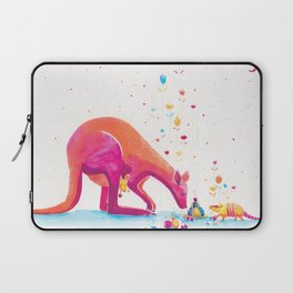 Princess Kangaroo Art Print - Armadillo's Generous Offering Laptop Sleeve
