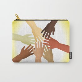 Diverse Hands Carry-All Pouch