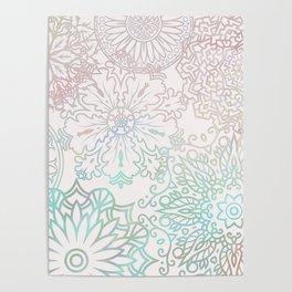 Spring blooms mandala Poster