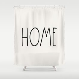 HOME wording country saying typography Shower Curtain