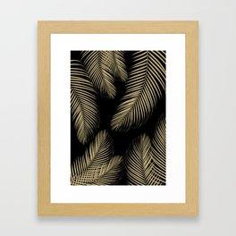 Palm Leaves - Gold Cali Vibes #4 #tropical #decor #art #society6 Framed Art Print