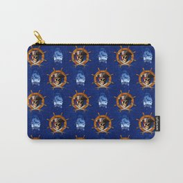 Ocean Blue Jolly Roger Pirate Wheel Carry-All Pouch