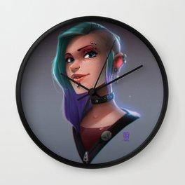 Random Faces #005 // Punk girl Wall Clock