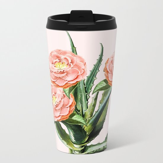 Blush Cactus || #society6 #decor #buyart Metal Travel Mug