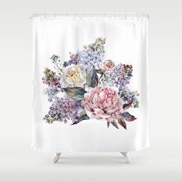 Watercolor Bouquet Shower Curtain