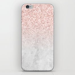 She Sparkles Rose Gold Pink Concrete Luxe iPhone Skin