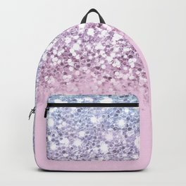 Sparkly Unicorn Pink Glitter Ombre Backpack