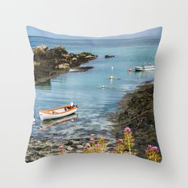 Bull Bay Boats Throw Pillow