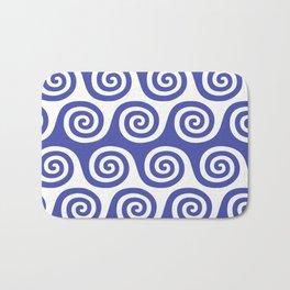 Wave Pattern Blue Bath Mat