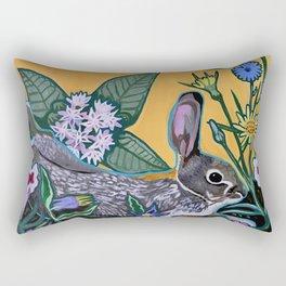 Rabbit Kickin' Back Rectangular Pillow