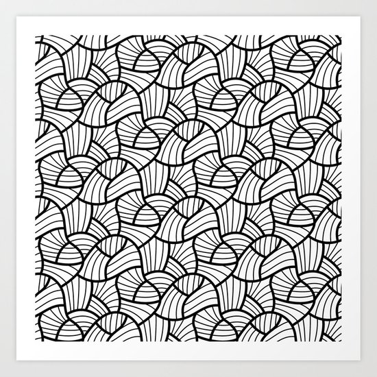 Abstract Lines Pattern Design 3 Art Print