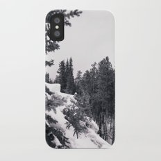 Snowy Trees Slim Case iPhone X