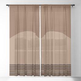 Sunrise / Sunset XI Sheer Curtain