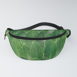 Green Plant Leaves Fanny Pack