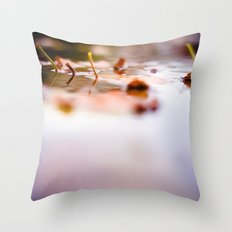 Leaf Reflect Throw Pillow