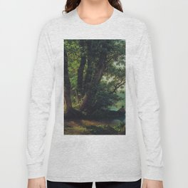 Landscape With Lake 1859 By Lev Lagorio | Reproduction | Russian Romanticism Painter Long Sleeve T-shirt