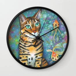 Kitty's Daydream by Robynne Wall Clock