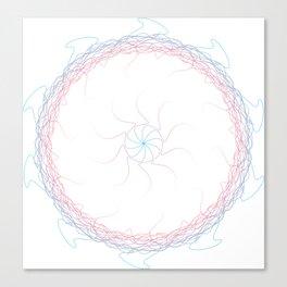 Trans Pride Spirograph Canvas Print