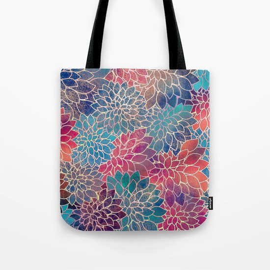 Floral Abstract 8 Tote Bag