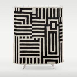 Optical Maze Shower Curtain