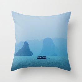 Ha Long Blues Throw Pillow