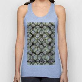 Ornate Pattern 2. Black. Green. Floral Pattern. Flowers.Damask Unisex Tank Top