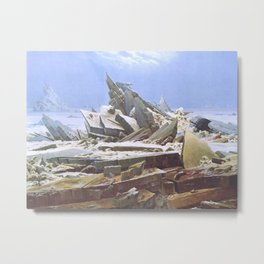 The Sea of Ice - Caspar David Friedrich Metal Print