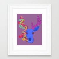 lsd Framed Art Prints featuring LSD by DeadStag