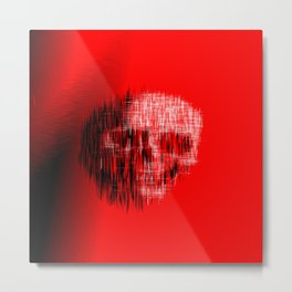 Etched Skull Metal Print