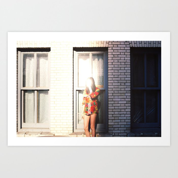 long as I can see the light Art Print