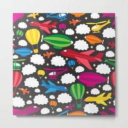 Fantastic Flying Machines (Rainbow) Metal Print