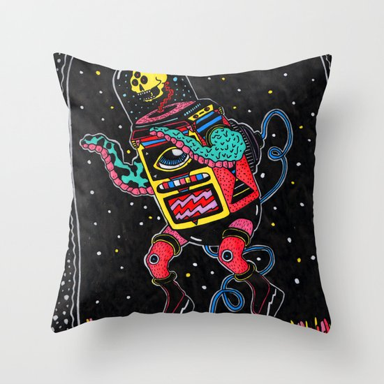 lo de adentro Throw Pillow