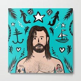 Beard Boy: Jono Metal Print