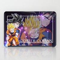 goku iPad Cases featuring Goku & Gohan by Neo Crystal Tokyo