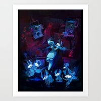 disco Art Prints featuring Disco by tipa graphic