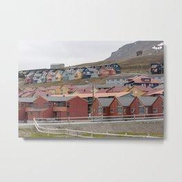 Color palette of houses in Svalbard Metal Print
