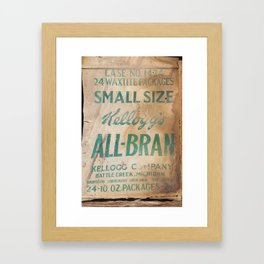 All-Bran Framed Art Print