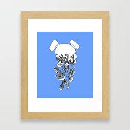 Pieces Away ( Blue) Framed Art Print