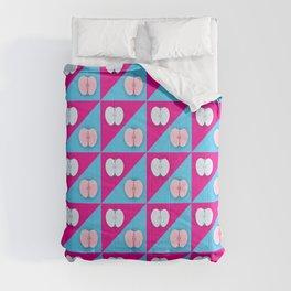Apples halves pop art pink blue Comforters