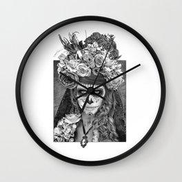 Sugar Skull - Día de Muertos - Day of the Dead Wall Clock