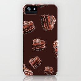 Heart chocolate cake  iPhone Case