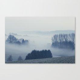 White Cover - Foggy Landscape Canvas Print