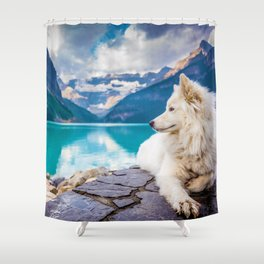 Wolf in Paradise (Color) Shower Curtain