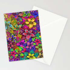 FLOWERS MISH MASH Stationery Cards