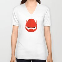 baymax V-neck T-shirts featuring Baymax by Oblivion Creative