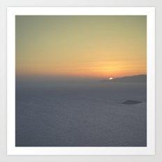 Middle mist Art Print