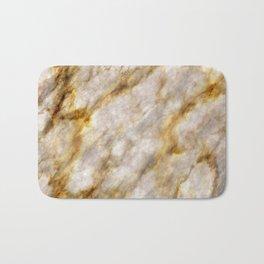 Gold Streaked Marble Bath Mat