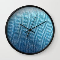fabric Wall Clocks featuring Fabric by Anna Berthier