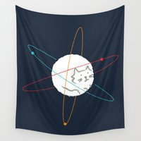 physics Wall Tapestries featuring Cat-ion by Picomodi