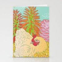 chicken Stationery Cards featuring Chicken by Raewyn Haughton